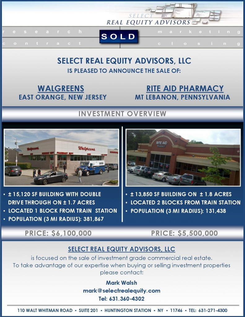 Closing Announcement, Walgreens and Rite Aid, NJ and PA,MW