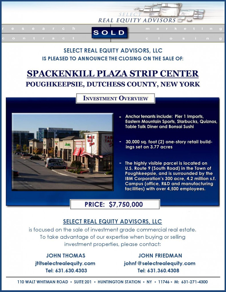 ClosingAnnouncement,Spackenkill Plaza, Poughkeepsie, NY-JT&JF for website
